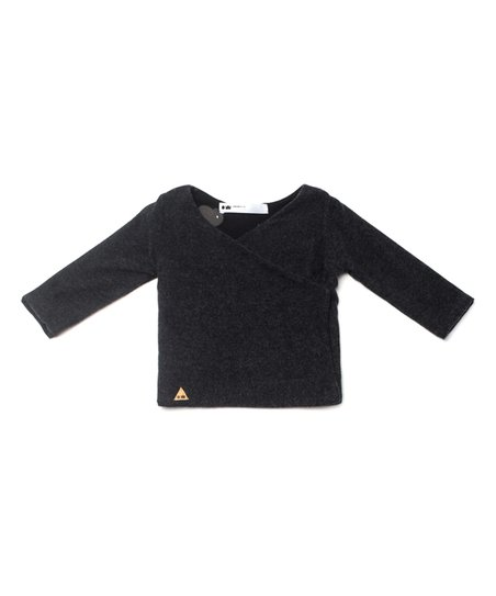 f76f30af6 OmamiMini Charcoal Soft-Knit Kimono Cardigan - Infant