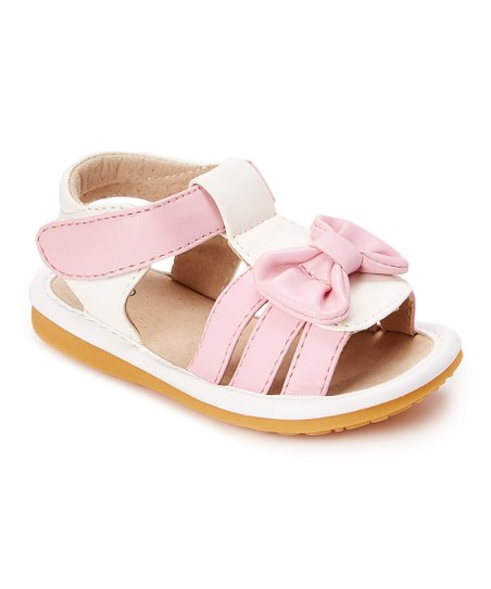77fb14c846 love this product White   Pink Bow Squeaker Sandal