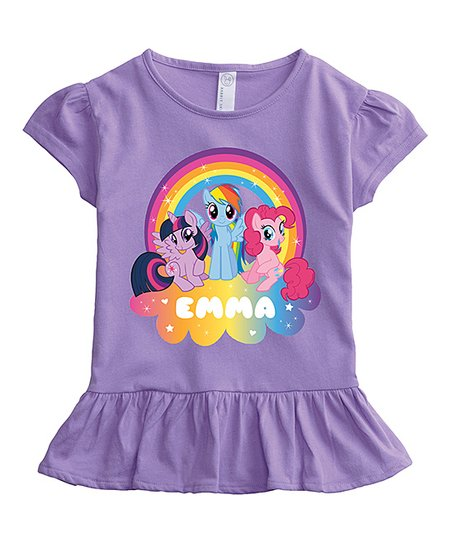 4374fbbaa love this product My Little Pony Personalized Ruffle Tee Shirt - Toddler &  Girls