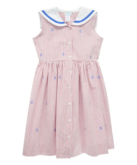 6ae921adc9b love this product Red Anchors Away Embroidered Sailor Dress - Girls