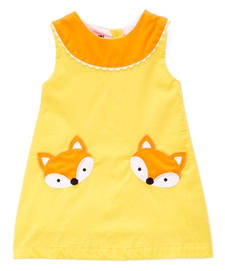 8b0a93bdd2 love this product Mustard Yellow   Orange Fox Yoke Dress - Infant
