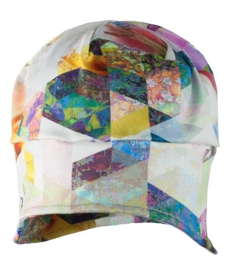 314de96059f love this product White Chevron Floral Jib Skull Cap - Girls