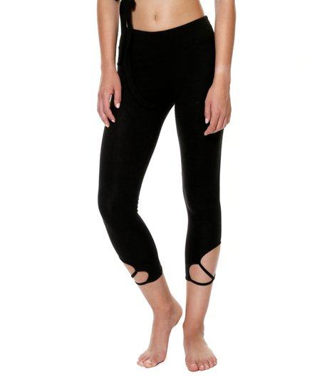 a91024820da76 Shambhala Barcelona Black Strappy Yoga Pants | Zulily