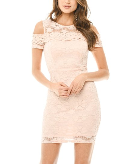 Cream Lace Dress with Sleeves