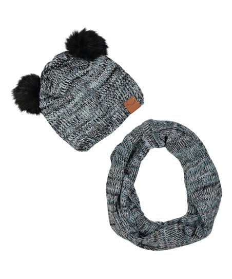 f79ce0fab88 love this product Turquoise Pom-Pom Hat   Scarf