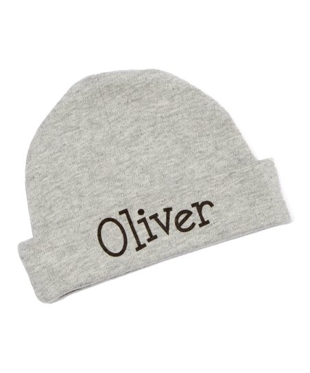 love this product Gray   Black Personalized Beanie - Newborn d61725046b9