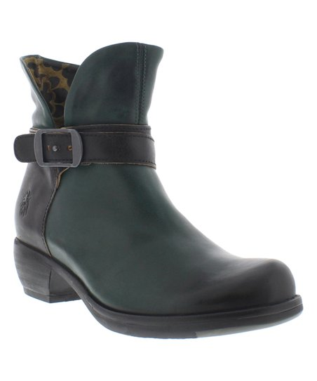 593188bcad628 FLY London Petrol Black Main Leather Boot - Women | Zulily