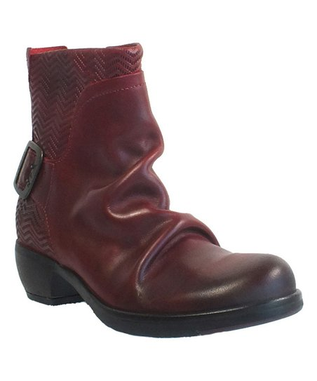 72cc0abd66 FLY London Red Rug Melb Embossed Leather Ankle Boot - Women | Zulily