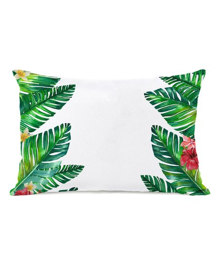 Tropical Palm Leaves Rectangular Outdoor Throw Pillow Zulily