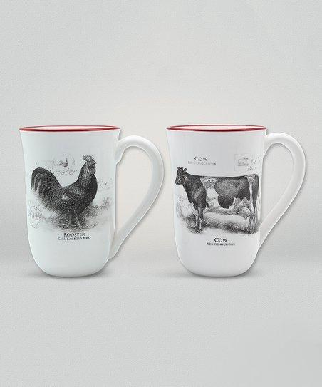 bde6cd78149 love this product Ceramic Farm Animal Mug - Set of Two