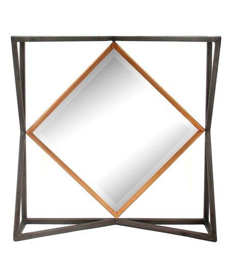 Sagebrook Home Black   Gold Window Box Metal Wall Mirror  5698d03b4b