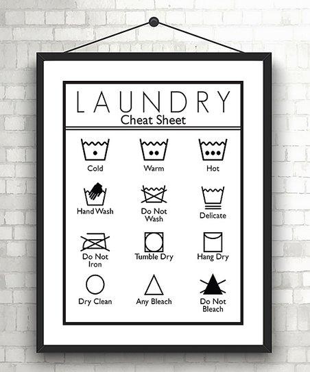 Vinyl Krazy Laundry Care Symbols Print