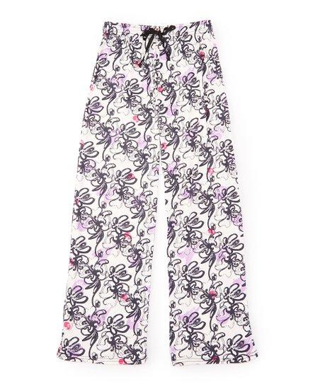 Hello Mello Black Pink Floral Hello Mello Lounge Pants