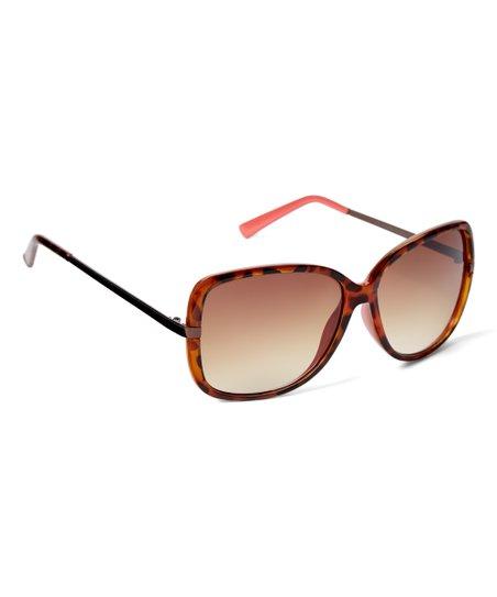 7174672fc0d love this product Tortoiseshell   Salmon Square Oversize Sunglasses