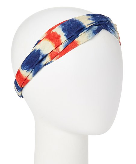 love this product Red   Blue Tie Dye Headband e5d729a8b75