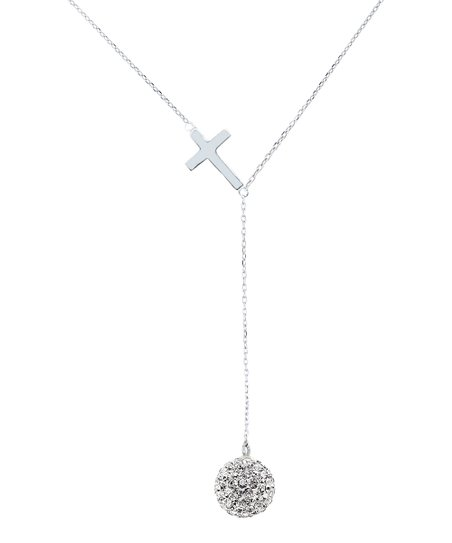 50c487570 love this product Sterling Silver Cross Lariat Necklace With Swarovski®  Crystals