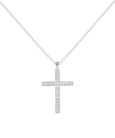 48b9c7afd56 love this product Sterling Silver Cross Necklace With Swarovski® Crystals