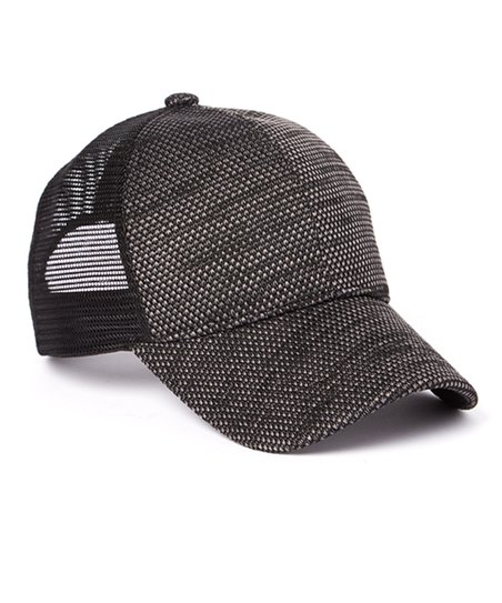 C C Black Knit Pattern Mesh Back Baseball Cap Zulily