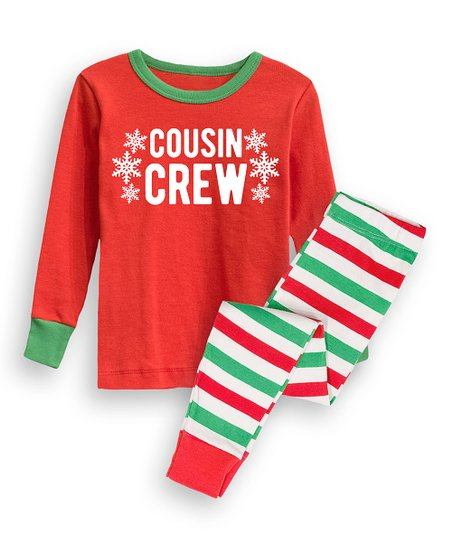 3b1eec96b love this product Red 'Cousin Crew' Pajama Set - Infant, Toddler & Kids