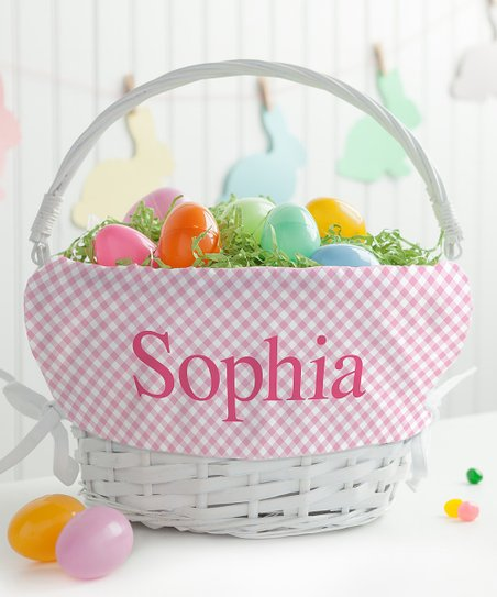 Love This Product White Pink Wicker Personalized Easter Basket