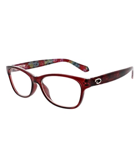 723a247e339 O by Oscar de la Renta Red Floral Readers