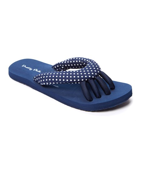 f7d2d3ae15ceb love this product Navy   White Polka Dot Spa Flip Flop - Women