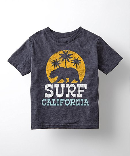 Heather Blue Surf California Tee Toddler Kids Zulily