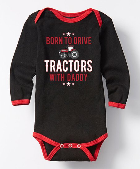 ee9f27e2d5d7 Black   Red Drive Tractors Long-Sleeve Bodysuit - Infant
