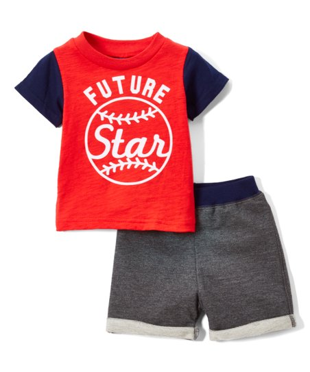 986bdce71 love this product Red & Gray 'Future Star' Baseball Tee & Shorts - Newborn  & Infant