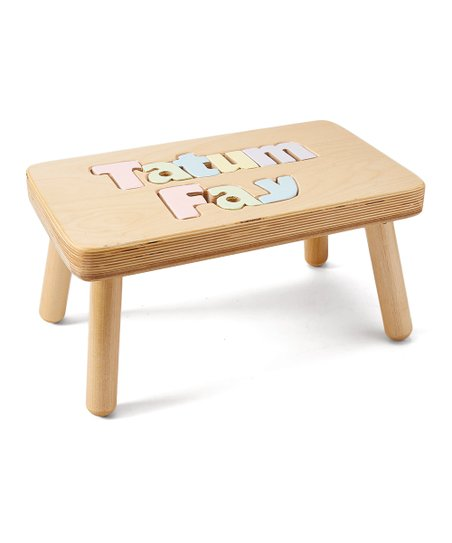 Magnificent Cubbyhole Toys Pastel Double Name Personalized Stool Gmtry Best Dining Table And Chair Ideas Images Gmtryco