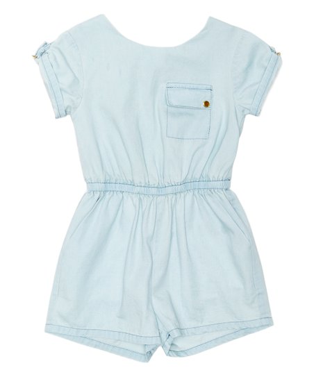 1e1e4bf07cd love this product Pale Wash Chambray Tie-Back Romper - Infant