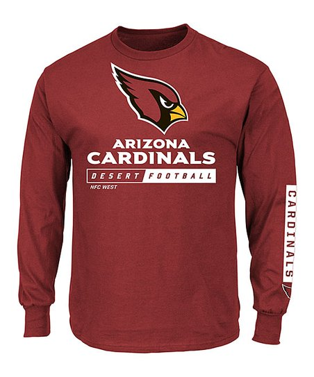 Majestic Athletic Arizona Cardinals Long-Sleeve Rib Tee - Men 09bb5306a