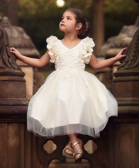 50aa31ba9 Trish Scully Child Ivory Bianca Dress - Infant, Toddler & Girls | Zulily