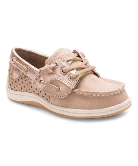 1ff048ef997d love this product Silver Cloud   Rose Gold Songfish Jr. Leather Boat Shoe