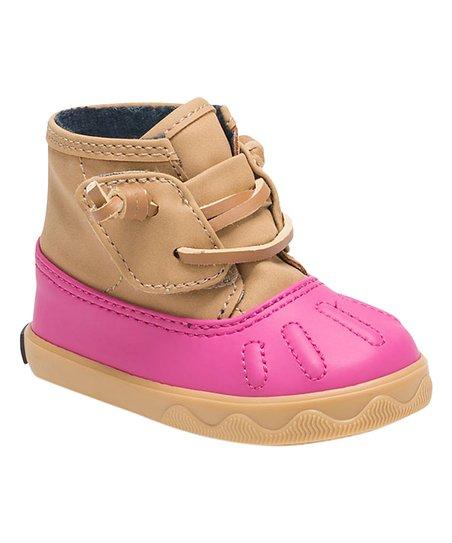 Tan \u0026 Pink Icestorm Crib Duck Boot
