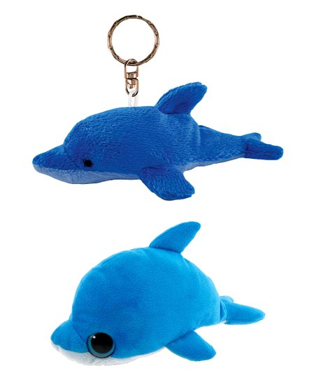 Puzzled Big Eye Dolphin Plush Toy Key Chain Zulily