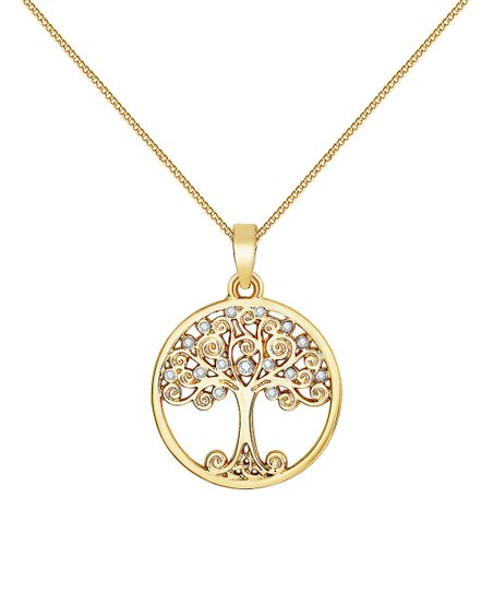 09577ccfe7be4 Mestigé Goldtone Tree of Life Necklace With Swarovski® Crystals