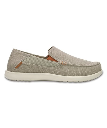 76503110e Crocs Khaki   Stucco Santa Cruz II Luxe Slip-On Loafer - Men