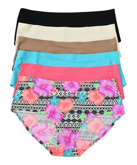 7236724ea4e12a Ilumie Floral Print & Solid Seamless Bikini Set - Plus Too   Zulily