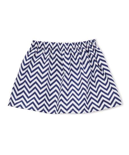 9804d222b1 TulipsLoveTurtles Royal Chevron Circle Skirt - Infant & Toddler | Zulily