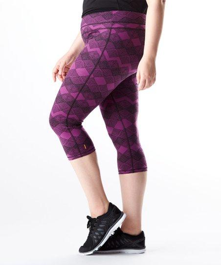 292b6e0fa0434 love this product Purple Stripe Studio Hatha Capri Legging - Plus