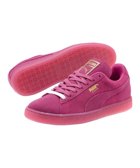 82aed26f3030 love this product Rose Violet & Gold Suede Classic Iced Sneaker - Women