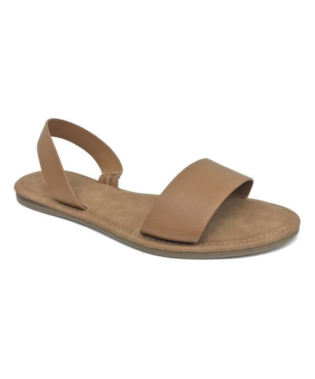 8985916245be love this product Tan Double-Strap Bliss Sandal