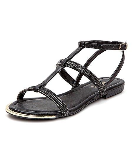 0331c1117fc French Blu Black Sparkle Sandal - Women