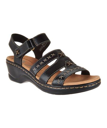 30da7f0d19c Clarks Black Lexi Evelyn Leather Sandal