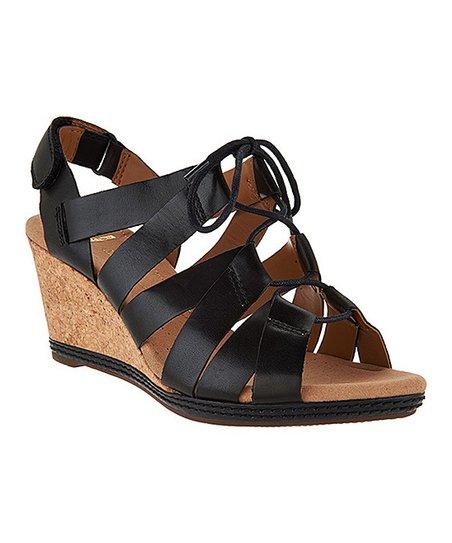 7034f4d922b7 Clarks Black Helio Mindin Leather Sandal