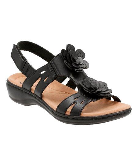05802fe96d49 Clarks Black Leisa Claytin Leather Sandal - Women