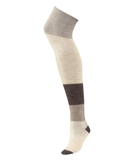 897313c8096 love this product Natural Color Block Merino-Blend Over-the-Knee Socks -  Women