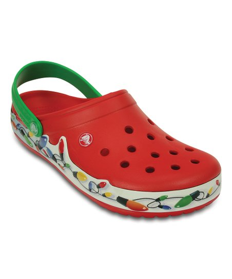 7c60bbb29d5f5 love this product Red Crocband™ Holiday Lights Clog - Adult