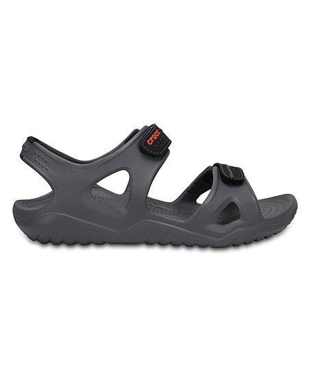23b56d2aeef9 Crocs Charcoal   Black Swiftwater River Sandal - Men